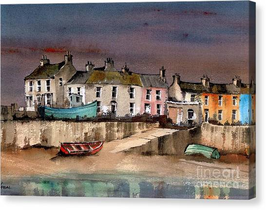 Harbour Dusk Greystones Wicklow Canvas Print