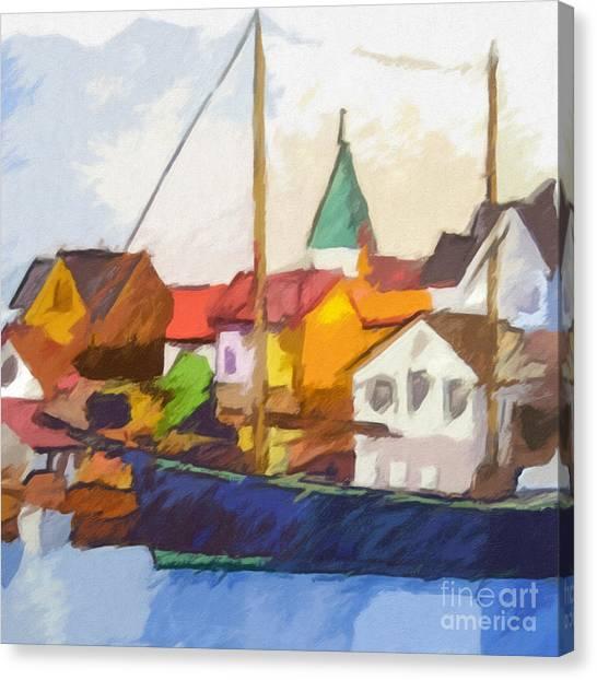 Harbour Seascape Canvas Print