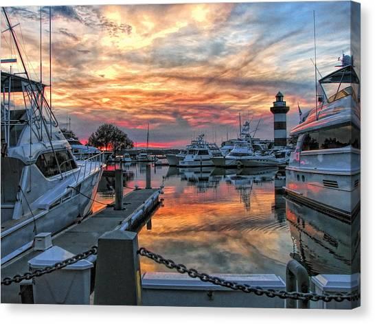 Harbour Town Yacht Basin Canvas Print