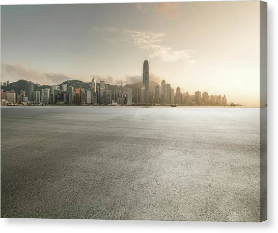 Harbour Canvas Print by Yubo