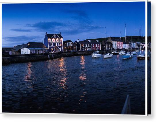 Harbourmaster Hotel Aberaeron At Dusk Canvas Print