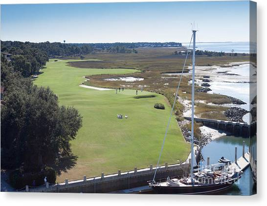 Harbourtown Golf Course 18th Hole Canvas Print