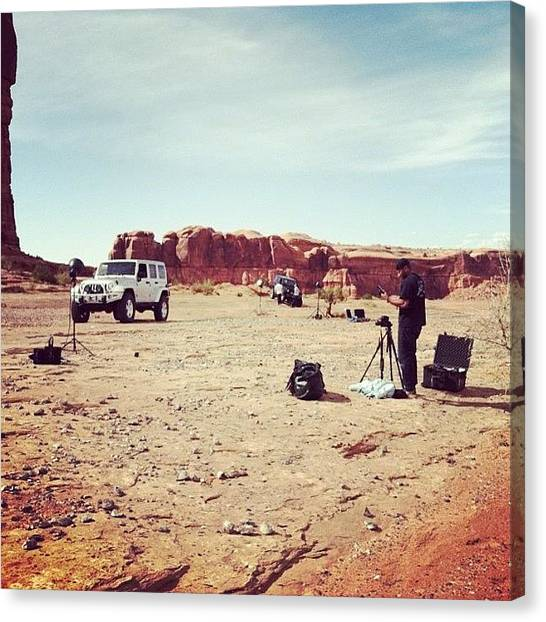 Toyota Canvas Print - Hard At Work In #moab  Time To Get by Andrew Wilz