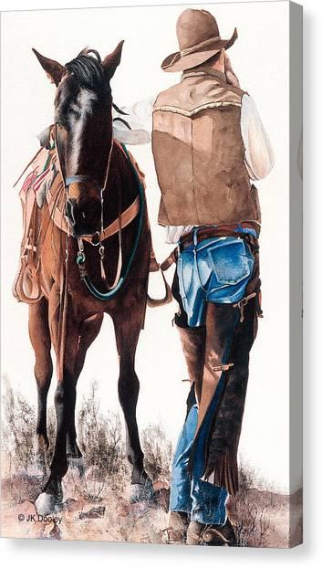 Hard Day's Ride Canvas Print