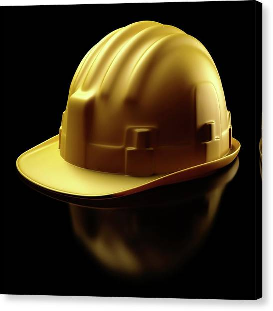Hard Hat Canvas Print - Hard Hat by Ktsdesign