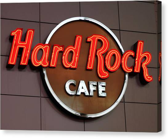 Hard Rock Cafe Sign Canvas Print
