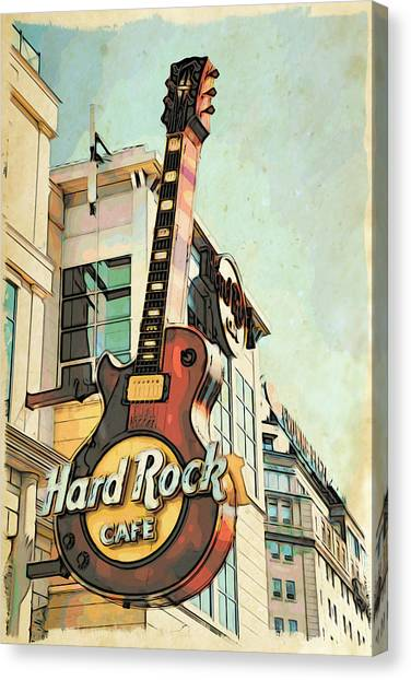 Hard Rock Guitar Canvas Print