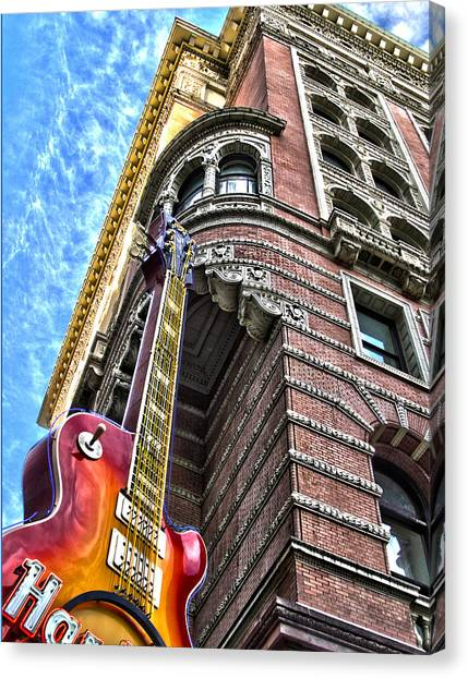 Hard Rock Phila Canvas Print by Frank Savarese