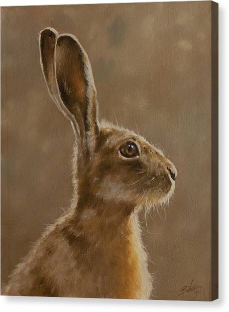Canvas Print - Hare Portrait I by John Silver