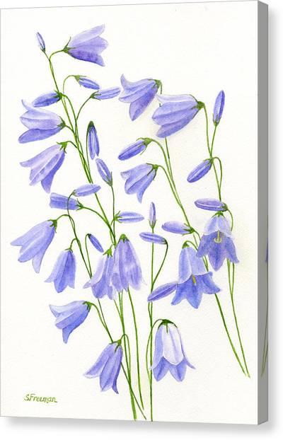 Harebells Canvas Print by Sharon Freeman