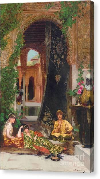 Moroccan Canvas Print - Harem Women by Jean Joseph Benjamin Constant