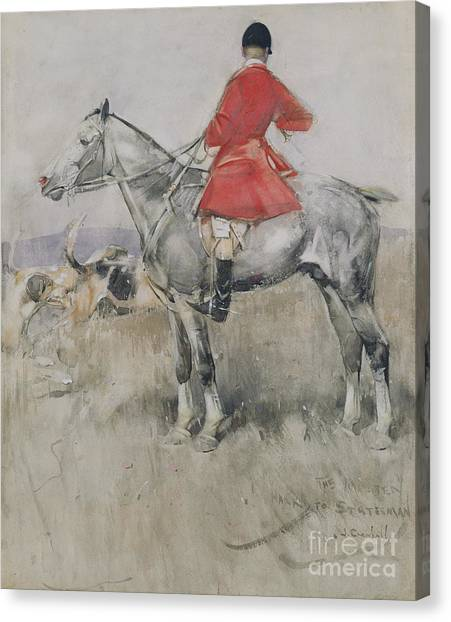 Beagles Canvas Print - Hark To Statesman by Joseph Crawhall