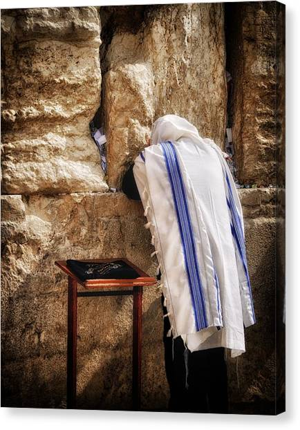 Harken Unto My Prayer O Lord Western Wall Jerusalem Canvas Print