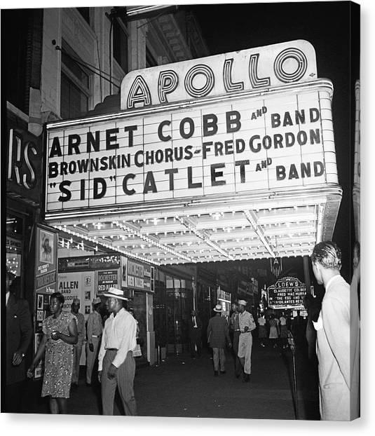 Harlem Canvas Print - Harlem's Apollo Theater by Underwood Archives Gottlieb