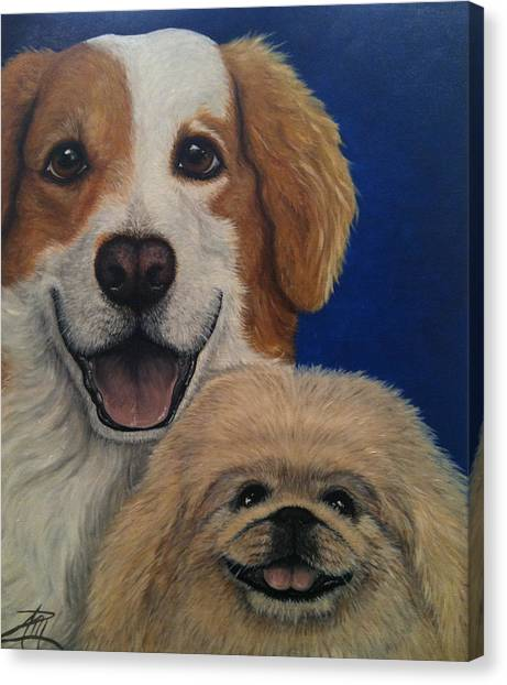 Harley And Munchie Canvas Print