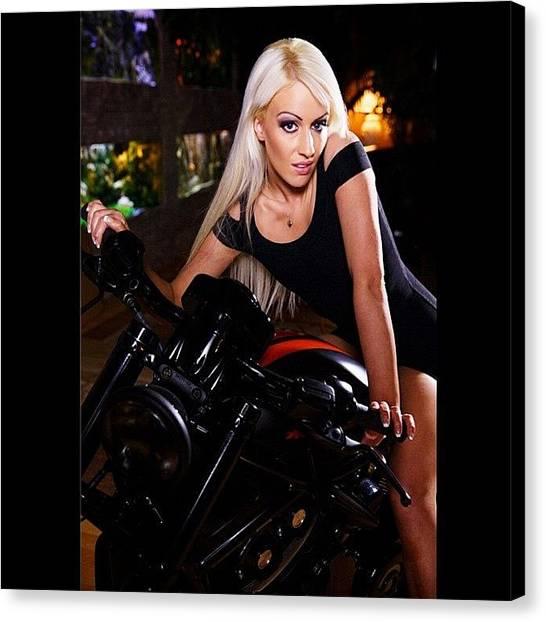 Erotic Canvas Print - Harley Davidson ❤️ by Lexi Jordan