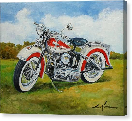 Harley Davidson 1943 Canvas Print