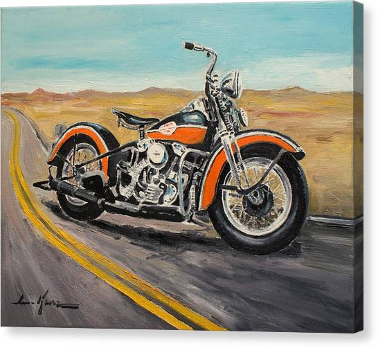 Harley Davidson 1946 Canvas Print