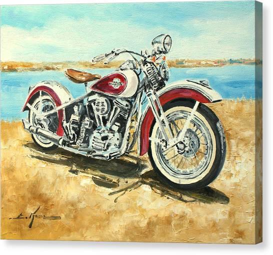 Harley Davidson 1960 Canvas Print