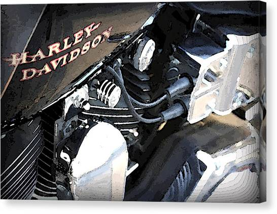 Harley - Davidson Canvas Print by CarolLMiller Photography