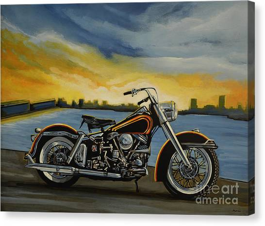 Design Canvas Print - Harley Davidson Duo Glide by Paul Meijering