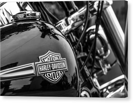 Canvas Print featuring the photograph Harley Davidson. by Gary Gillette