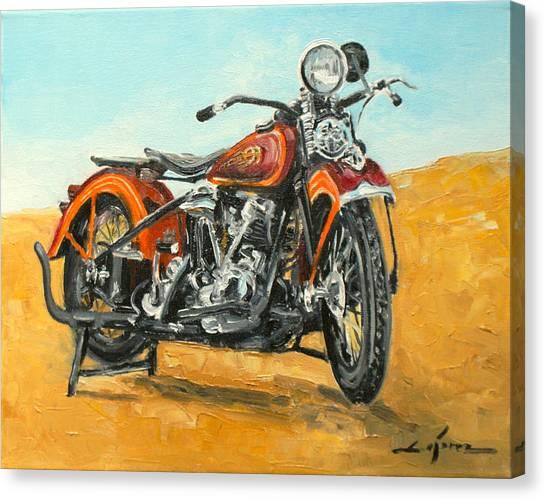 Harley Davidson Knucklehead Canvas Print