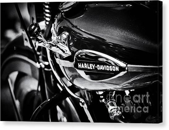 Harley Davidson Monochrome Canvas Print