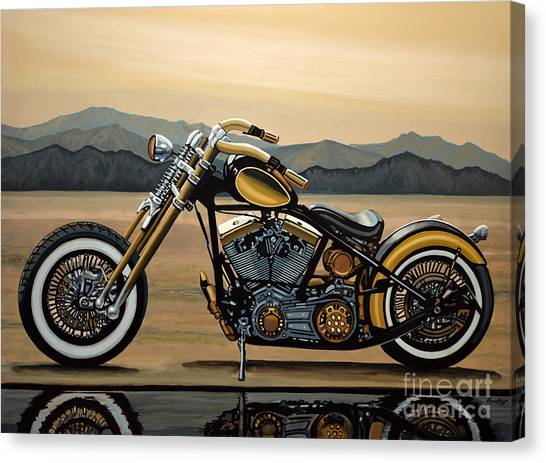 Design Canvas Print - Harley Davidson by Paul Meijering