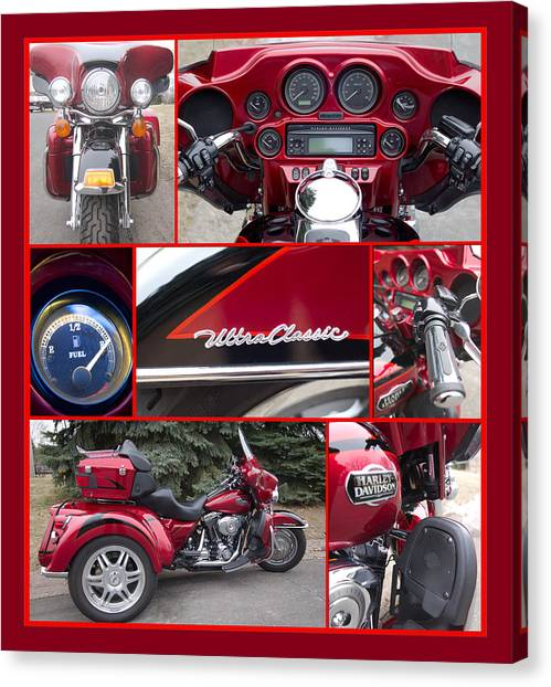 Canvas Print featuring the photograph Harley Davidson Ultra Classic Trike by Patti Deters