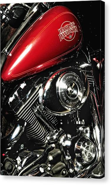 Harley Electra-glide Canvas Print