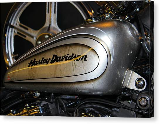 Harley Davidson Canvas Print - Harley by Jeff Hawley