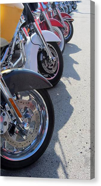 Harley Line Up 1 Canvas Print