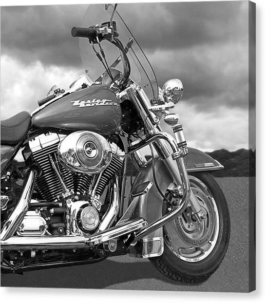 Harley Road King Custom Canvas Print by Gill Billington