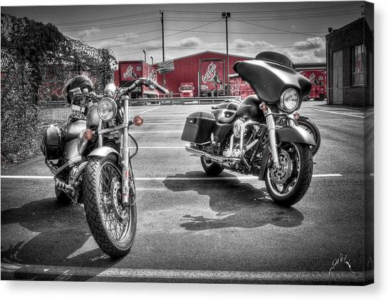 Harleys And Coke Canvas Print