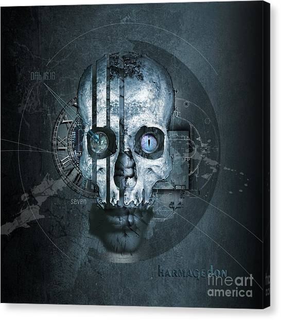 Final Fantasy Canvas Print - Harmagedon Blue-gray by Franziskus Pfleghart