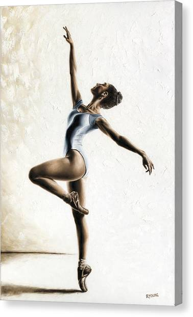 Ballet Canvas Print - Harmony And Light by Richard Young