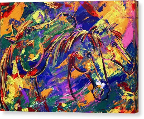 Harmony Horses Canvas Print