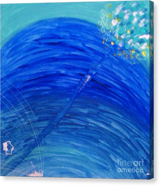 Canvas Print featuring the painting Harmony by Ilona Svetluska