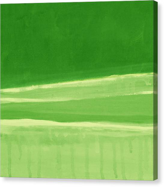 Courses Canvas Print - Harmony In Green by Linda Woods