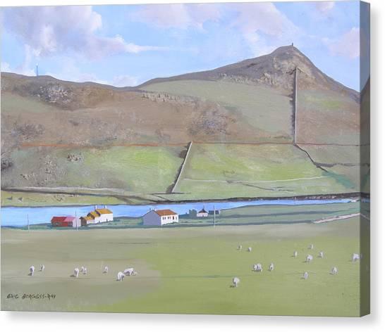 Haroldswick Shetland Islands Canvas Print