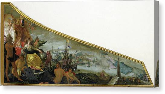 Harpsichords Canvas Print - Harpsichord Lid Showing An Allegory Of Amsterdam by Litz Collection