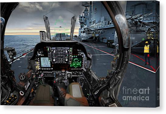 Harrier Cockpit Canvas Print