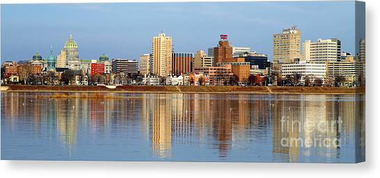 Harrisburg Reflections Canvas Print