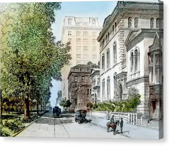 Harrison Residence East Rittenhouse Square Philadelphia C 1890 Canvas Print