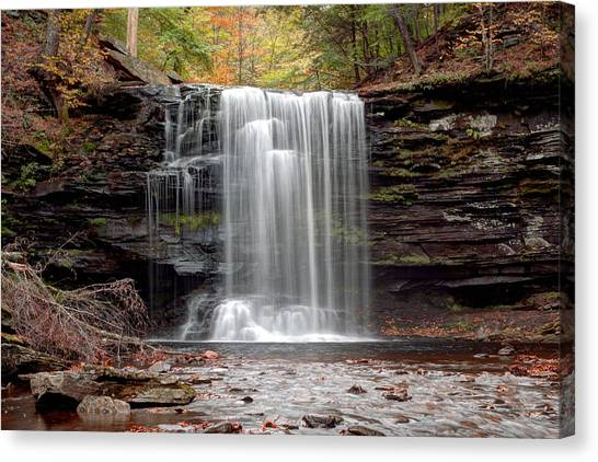 Harrison Wright Falls As Autumn Arrives Canvas Print