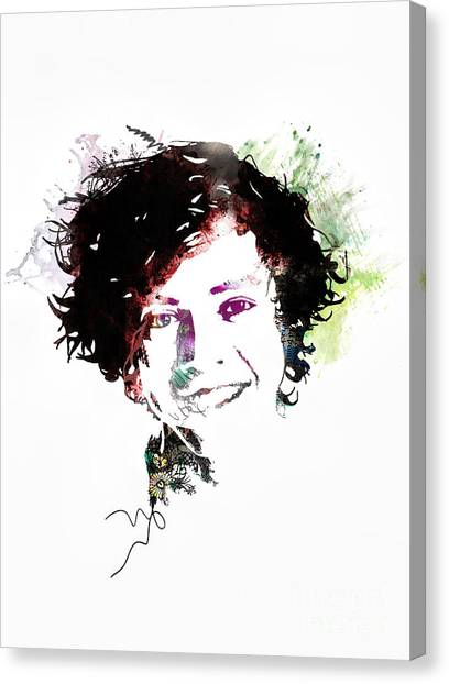One Direction Canvas Print - Harry Styles by Gillian Singleton