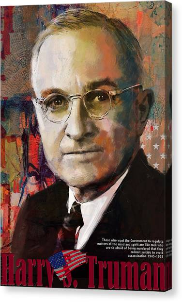 Harry Truman Canvas Print - Harry S. Truman by Corporate Art Task Force