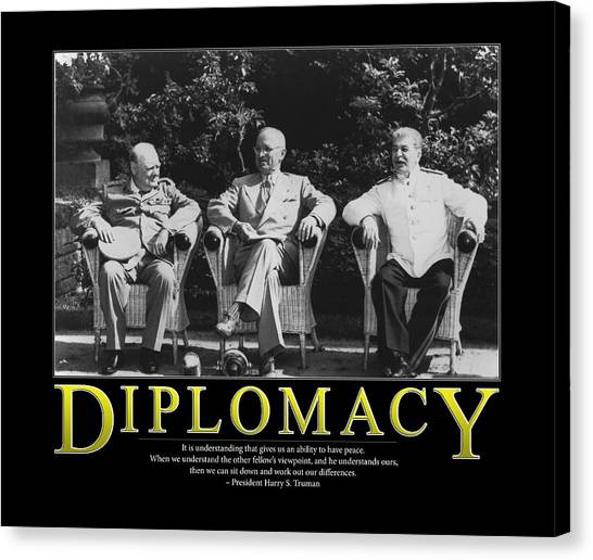 Harry Truman Canvas Print - Harry Truman Diplomacy by Retro Images Archive