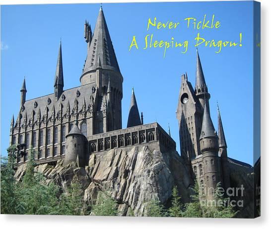 Harry's Hogwarts Canvas Print